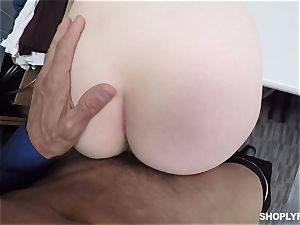 Ella Hughes plowed balls deep by naughty mall cop