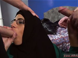 flawless arab teenager and blowage Desperate Arab woman tears up For Money