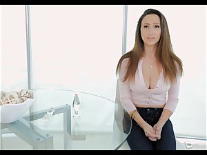 Ashley Adams gasps as her culo is pulverized
