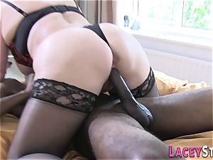 Lacey Starr Gets pounded rigid by a dark-hued guy