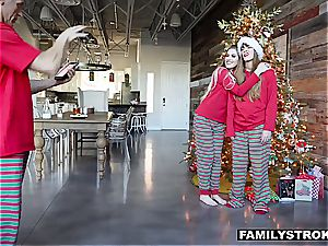 Niki Snow gets a banging for Christmas from her father
