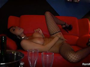 Romi Rain gets super-naughty on the stripper pillar