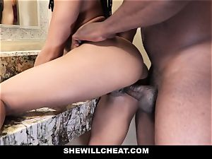 SheWillCheat - hotwife wife pounds big black cock in douche