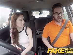 faux Driving school USA babe Anna De Ville