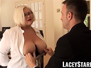 LACEYSTARR - subjugated GILF bum wedged by Pascal white
