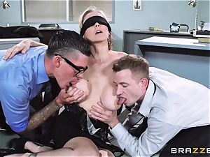 spectacular boss Julia Ann gets a double creaming