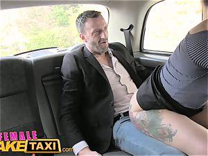 damsel faux cab Belgium porno fellow romps sumptuous cabbie