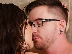 destiny Dixon super-hot and moist plumbing in the bathroom