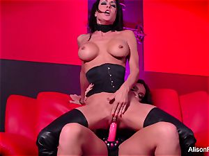 crimson room and steaming strap-on activity