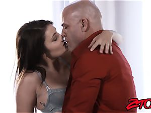 Stepdaughter Adria Rae fucked and tonguing pop-shot