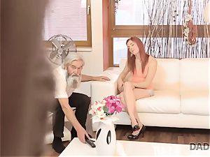 DADDY4K. man and his elder daddy team up to punish sex-positive girlfriend