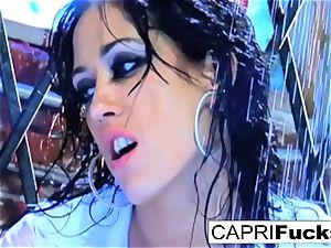 hottie Capri gets pulverized hard by Keni