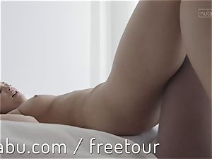 Celeste penetrates her girlfriend strap-on style