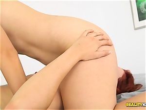 Minge eating naughty lezzies Kimberly Kane and Jayden Cole messing with their coochies