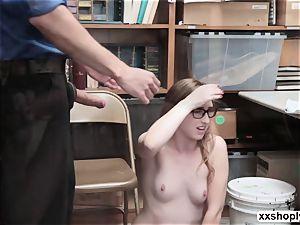 kinky Shoplifter Gracie MayGreen gets her honeypot ruined