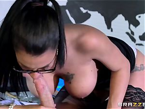 chesty spy Peta Jensen gets her tight cooter boned in a secret bunker