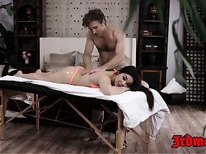 amazing Kimber fuckpole groped before sultry penetrating