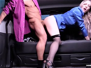torn up IN TRAFFIC - warm car orgy with brit Carly Rae