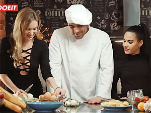 LETSDOEIT - sex Cooking With stunners Apolonia and Angel
