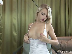 fabulous Femorg Coed Gets wet cootchie While stroking