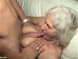 75 years elderly grannie very first pornography movie