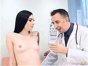 Marley Brinx gets her snatch deeply examined at the doctors