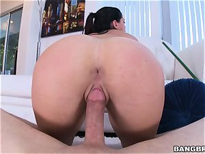 super hot bum Alison Tyler rails on top