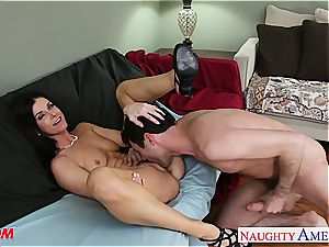 India Summer salutes his stiff pipe deep in her labia
