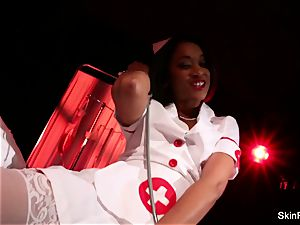super steaming nurse flesh Diamond gives a super-sexy taunt