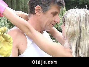Gina Gerson gets buttfuck from an senior fellow