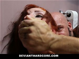 DeviantHardcore - red-haired Gets caged and dominated