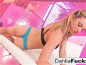 Dahlia Sky plays with a fuckfest toy
