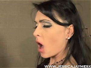 Jessica Jaymes and Darryl Hanah boinking fake penis deep into twats