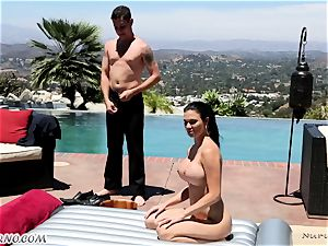 delightful chesty massagist Jasmine Jae gets double titfucked