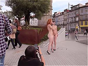 Jeny Smith and Vienna enjoy bare in public