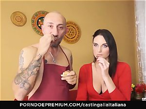 casting ALLA ITALIANA - chesty dark-haired luvs humid assfuck