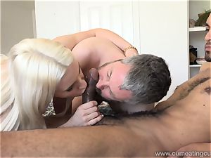 Niki Snow Makes husband fellate humungous ebony jizz-shotgun