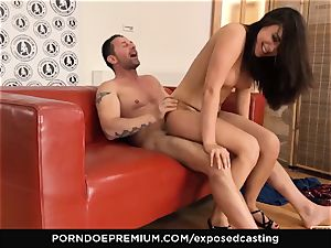 uncovered audition Cowgirl railing in super-fucking-hot audition