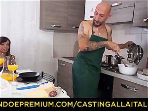 audition ALLA ITALIANA - super-steamy Italian minx gets deep ass fucking