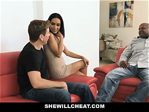 SheWillCheat - sizzling wife With huge Rack likes black fuckpole