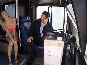 Natalia Starr pummels a bus driver for a free rail