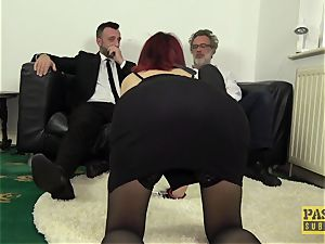 PASCALSSUBSLUTS - Leanne Morehead booty stuffed before facial cumshot