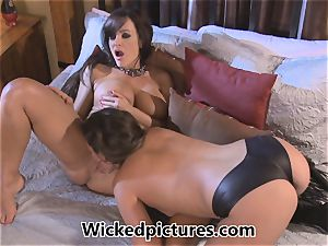 Allie Haze takes a turn in domination with Lisa Ann
