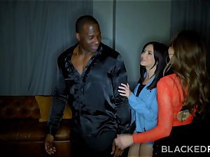 BLACKEDRAW Riley Reid drills bbc With Her hottest buddy