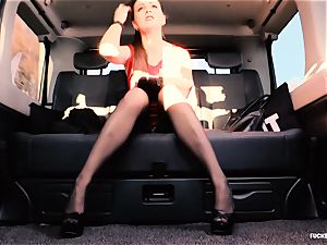 drilled IN TRAFFIC - brit Tina Kay smashed in the car