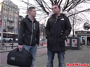 gigantic Amsterdam hooker cockriding tourist