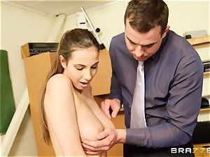 Connie Carter gets some classroom manstick act