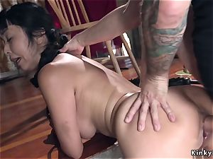 Kidnapped asian schoolgirl ass-fuck humped