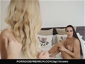 A lady KNOWS - Mea Melone in powerful lesbo orgy