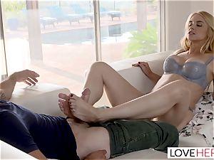 LoveHerFeet Caught stroking Off By horny Stepmom